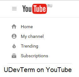 UDevTerm on YouTube